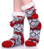 ZaYang Womens Winter Super Soft Knit Fuzzy Cozy Fleece lined Warm Non-Skid Slipper Socks Christmas Gift