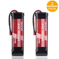 AWANFI 8.4V NiMH 3600mAh 7-Cell Flat Pack RC Battery with Deans Plug for Most 1/10 Scale RC Car RC Truck RC Boat Traxxas LOSI Associated HPI Kyosho Tamiya Hobby(2 Pack)
