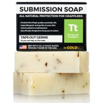 Premium Tea Tree Oil Soap - 100% All Natural USA Made Bars for BJJ, Jiu Jitsu, Wrestling, and Grappling (2-Pack of 4 Ounce Soap Bars)