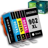 GREENBOX Compatible HP 902 Ink Cartridges Replacement for HP 902XL 902 XL for Hp OfficeJet Pro 6978 6968 6958 6962 6960 6970 6979 6950 6951 6954 6975 Printer (1 Black 1 Cyan 1 Magenta 1 Yellow)