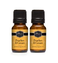 P&J Trading Peaches & Cream - Premium Grade Scented Oil - 10ml - 2-Pack