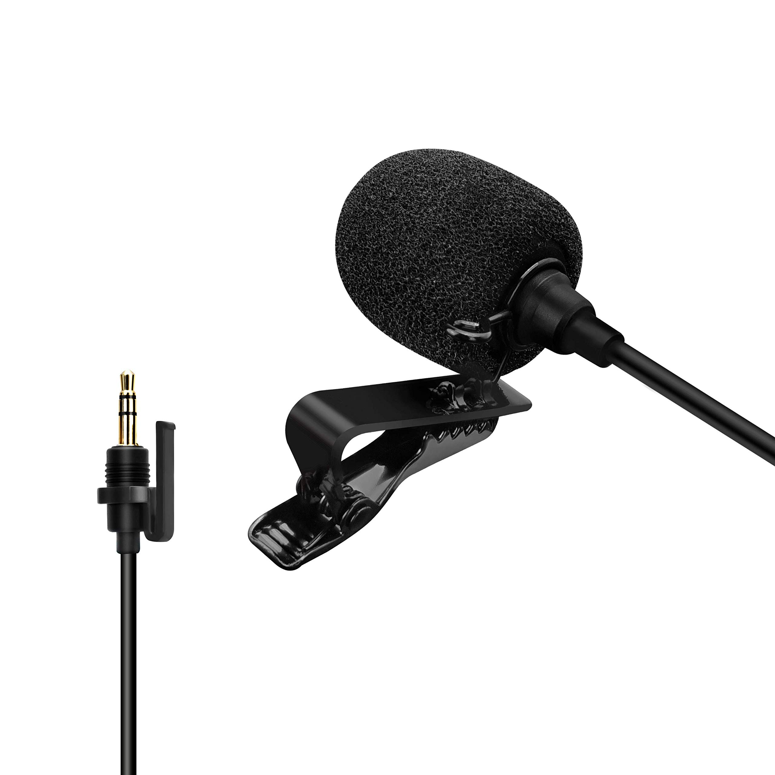 Comica CVM-SM-O1 Professional Lavalier Lapel Microphone, Omnidirectional 3.5mm TRS Clip-on Condenser Mic Compatible with DSLR Camera, Comica BoomX-D, Sennheiser, and Other Wireless Transmitter(3.94ft)
