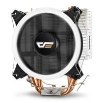 darkFlash CPU Cooler PC Heatsink with Four Direct Contact Heat Pipes & 120mm PWM White LED Fan Computer CPU Air Cooling Cooler Radiator for Intel & AMD