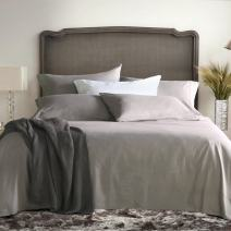 Sable 4PCS Bed Sheet Set, Brushed Microfiber 1800 Bedding Collection Sets, Hypoallergenic & Super Soft,Breathable, Anti Wrinkle (Queen Size) (Grey)