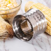 Corn Stripping Tool - Rerii Stainless Steel, Serrated Blade with Non-Slip Grip Corn Slicer, Cutter, Remover, Stripping Tool