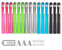 SEAMAGIC 15-Pack LED Penlight - Pocket Pen Flashlight with Clip, 30-Piece Dry Batteries Included, Perfect for Inspection, Repairing, Night Shift and Training Course