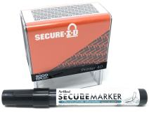 SECURE ID and SECURE MARKER COMBO, Identity Theft Block Out Stamp and Marker Combo. Perfect For Blocking Out Confidential Information, Orange Case