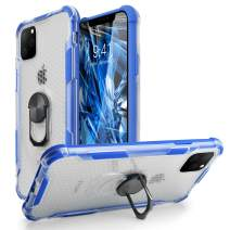 iPhone 11 Case,WATACHE Premium Hybrid Dual Layer Heavy Duty Shockproof Protective Case with 360 Degree Rotation Ring Stand for iPhone 11 6.1 Inch 2019 Release,Blue