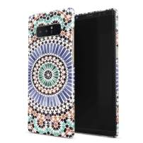BURGA Phone Case Compatible with Samsung Galaxy Note 8 - Pastel Illusion Moroccan Marrakesh Tile Pattern Colorful Mosaic Cute Case for Women Thin Design Durable Hard Plastic Protective Case