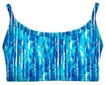 City Threads Girls Bikini Top Active Wear UPF50+ Rash Guard for Beach and Pool