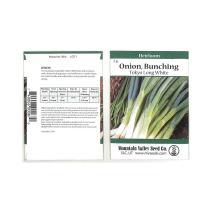 Tokyo Long White Bunching Onion Garden Seeds - 2 Gram Packet ~600 Seeds - Non-GMO, Heirloom Vegetable Gardening & Micro Greens Seed