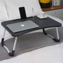 Hossejoy Foldable Laptop Table, Portable Standing Bed Desk, Breakfast Serving Bed Tray, Notebook Computer Stand Reading Holder for Couch Floor, Black