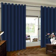 Turquoize Extra Wide Sliding Door Curtains Room Divider Grommet Top Curtain Panel, Blackout Patio Door Curtain, Navy, 8.3ft Wide x 8ft Tall (100inch W x 96inch L), Sold by Panel