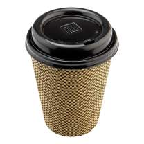 Coffee Cup Lids - Black - Plastic - Disposable - Fits 8, 12 and 16 oz Coffee Cups - 500ct Box - Restaurantware