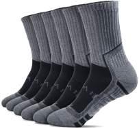 TSLA Men's (Pack of 6) Athletic Mid-Calf Socks Cushioned Sports Comfort