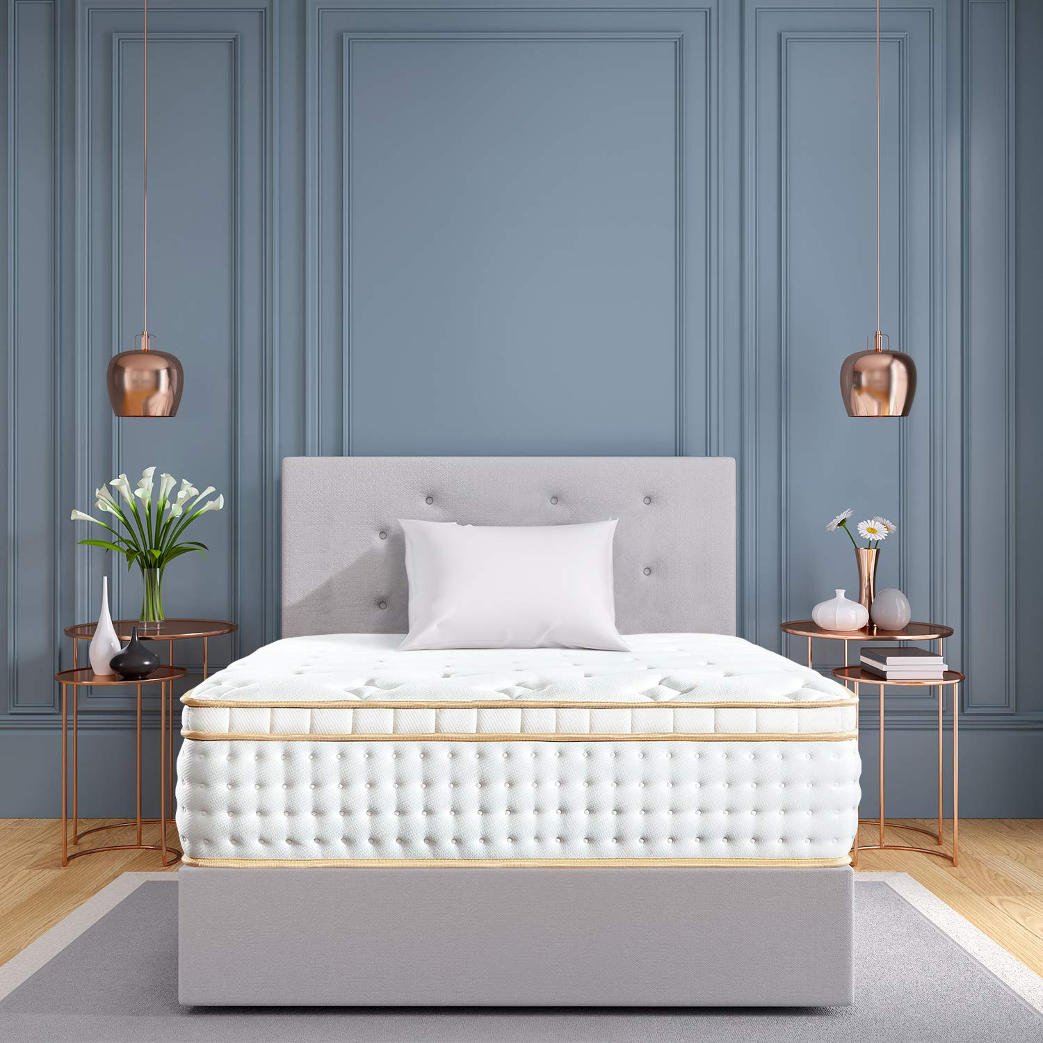 BedStory 12 inch Twin XL Mattress, Gel Infused Memory Foam Mattress with Pocket Coil and Euro Top Bed Mattress