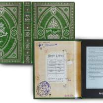 Kindle Paperwhite Case with Harry Potter Themed Foldback Book Cover (New Slytherin Green)