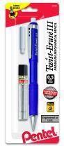 Pentel Twist-Erase III Mechanical Pencil with Lead and Eraser Refills (QE515LEBP)
