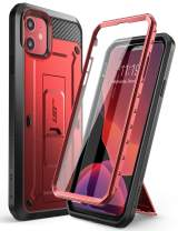 SupCase Unicorn Beetle Pro Series Case Designed for iPhone 11 6.1 Inch (2019 Release), Built-in Screen Protector Full-Body Rugged Holster Case (MetallicRed)