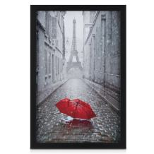 ONE WALL 11x17 Poster Frame Black, Made of Solid Wood and Tempered Glass Picture Frame for 11x17 Photo - Wall Mounting Hardware Included