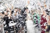 Battife White Confetti Wands 7Pack Biodegradable Tissue Paper Confetti Flick Flutter Sticks for Wedding Celebrations Anniversary Birthday Party White, 14 Inch