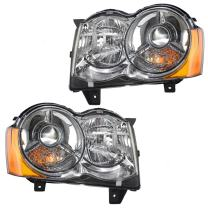 Driver and Passenger HID Headlights Headlamps Replacement for Jeep SUV 55157485AG 55157484AH