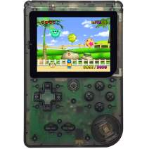 Haopapa Retro FC Handheld Games for Boys Girls Adults, Built-in 400 Classic Famous Games 3 Inch Screen USB Rechargeable Arcade TV Video Game Player, Birthday Gift Toys for Kids Ages 4-8(Transparent)