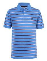 Chaps Boys' Short Sleeve Striped Polo