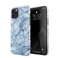 BURGA Phone Case Compatible with iPhone 11 PRO MAX - Arctic Winter Blue Topaz Snow Frost Ice Marble Cute Case for Girls Thin Design Durable Hard Shell Plastic Protective Case
