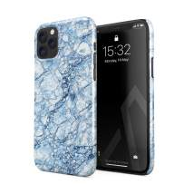 BURGA Phone Case Compatible with iPhone 11 PRO - Arctic Winter Blue Topaz Snow Frost Ice Marble Cute Case for Girls Thin Design Durable Hard Shell Plastic Protective Case