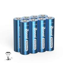BONAI AAA Rechargeable Solar Batteries 600mAh High Capacity AAA Rechargeable Batteries for Solar Lights Replacement (AAA 8 Pack)