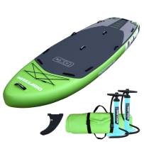 Driftsun Orka 12 Foot Extra Wide Multi Person Inflatable Paddle Board Stand Up SUP Package, Room for Gear, with Two High Pressure, High Volume Pumps, 12 Feet Long, 4.5 Feet Wide