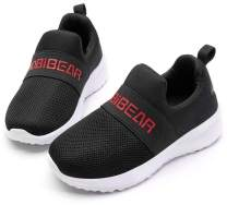 HOBIBEAR Kids Slip-on Sneakers Lightweight Breathable Boys Girls Mesh Athletic Running Shoes(Little Kid/Todder)