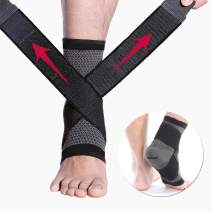 CFR Ankle Brace Compression Support Sleeve Plantar Fasciitis,Ankle Stabilizer Foot Socks with Adjustable Strap for Swelling & Heel Spur Pain,Soothe Achy Feet,Running,Basketball