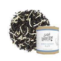 Simple Loose Leaf - Simple Coconut Black - Premium Loose Leaf Black Tea (4 oz) - High Caffeine - Sweet and Rich - USA Hand Packaged - 60 Cups