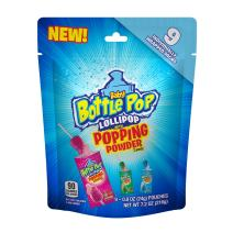 Baby Bottle Pop Lollipop with Popping Powder Candy, Assorted Flavors, 7.2 oz Bag