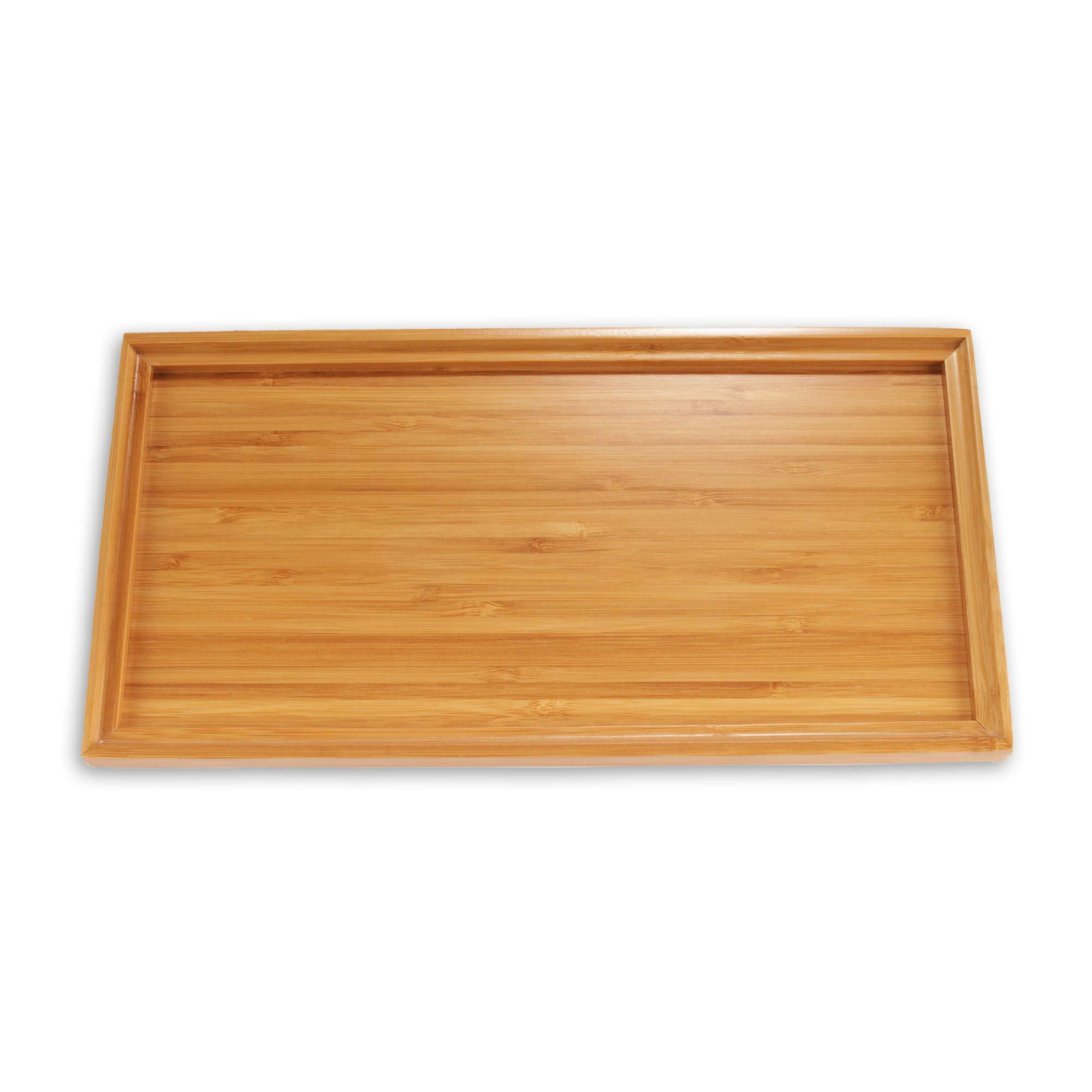 "Organic Bamboo Tea Serving Tray - 11""x5.5""x0.6"" - 10 Pieces"