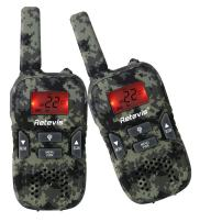 Retevis RT33 Kids Walkie Talkies with Flashlight Long Range Handheld Army Toys for Boys and Girls Gifts, Survival Gear and Equipment for Kids Adventure Game Camping(1 Pair, Camouflage)