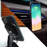 SoloQi X Cellphone Car or Desk Mount Fast 10W Wireless Charger with Magnetic Pads