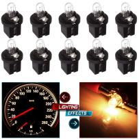 cciyu Pack of 10 509t T5 B8.5D Twist Halogen Light Bulbs 1.2W Replacement fit for Instrument panel Gauge Cluster Speedometer