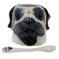 3D Hand Painted Dog Coffee Tea Ceramic Mug Cute Pet Perfect Dog Lover (Pug)