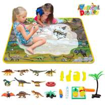 Mochoog Aqua Magic Doodle Mat, Large Size 3929 inches Water Drawing Painting Mat with Realistic Dinosaur Playset, Educational Toys Gifts for Kids Toddlers Boys Girls Age 3 4 5 6 7 8 Year Old