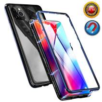 Magnetic Adsorption Case for iPhone 11 Pro Max Case, Magnetic Case Front and Back Tempered Glass Magnet Cover, Full Body Protective Case with Metal Bumper Frame for iPhone 11 Pro Max 6.5 Inch 2019