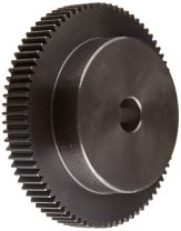 """Martin TS1680 Spur Gear, 20° Pressure Angle, High Carbon Steel, Inch, 16 Pitch, 3/4"""" Bore, 5.125"""" OD, 0.750"""" Face Width, 80 Teeth"""