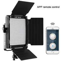 GVM 560 LED Video Light, Dimmable Bi-Color, Photography Lighting Kit with APP Intelligent Control System, Professional for YouTube, Studio, Outdoor, Video Lighting with Screen, 2300K-6800K, CRI 97+