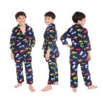 JAMMIZ 2-Piece Boys Plush Robe and Pants Pajama Set Sleepwear