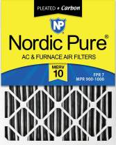 Nordic Pure 10x20x1 MERV 10 Pleated Plus Carbon AC Furnace Air Filters, 3 Pack, 3 piece