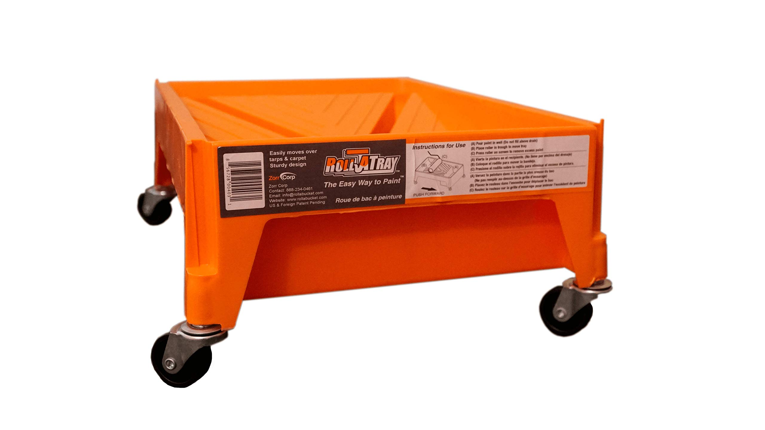 Roll A Tray paint tray on wheels