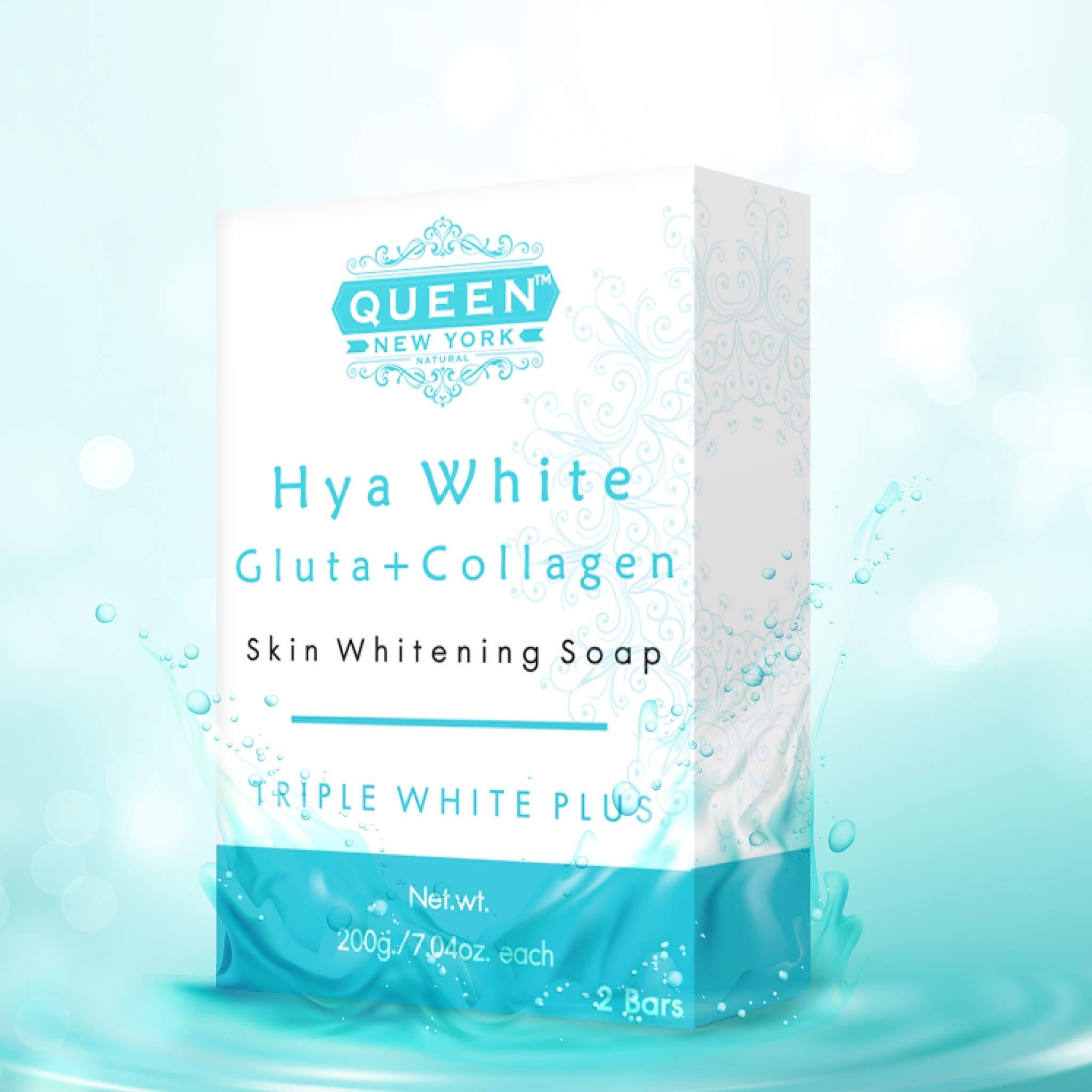 QUEEN natural skin renewal whipp soap- Premium formula with Delicate Net for Softening Whip Foam-Glutathione, Kojic acid, hyaluronic acid soap (2 Bars-Hya+Mesh)