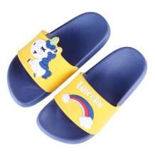 Boys Girls Slide Sandals Kids Outdoor Beach Pool Sandal Soft Unicorn Bath Slippers (Toddler/Little Kid)